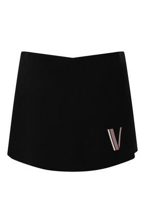 Женские шорты из смеси шерсти и шелка VALENTINO черного цвета, арт. TB3RA5P51CF | Фото 1