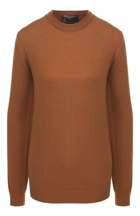Женская шерстяной пуловер LORO PIANA темно-бежевого цвета, арт. FAI3760/VVIC | Фото 1
