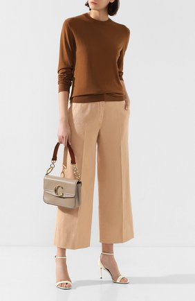 Женский шерстяной пуловер LORO PIANA коричневого цвета, арт. FAI3760/VVIC   Фото 2
