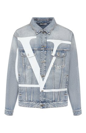 Мужская джинсовая куртка VALENTINO голубого цвета, арт. TV3DC00KKHL | Фото 1