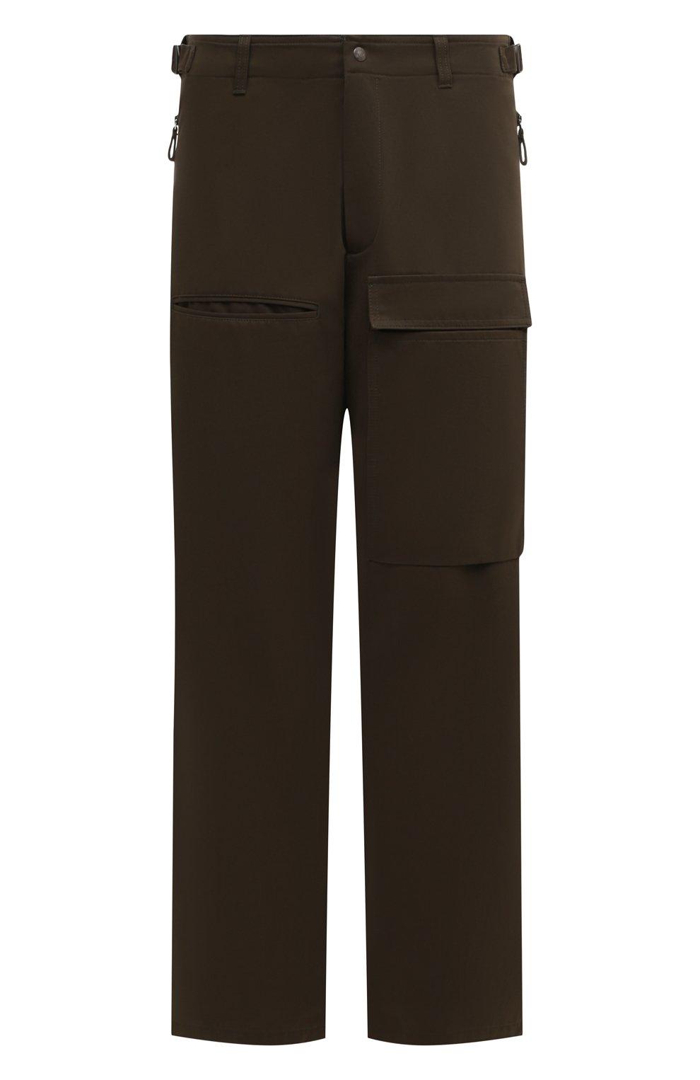 Мужские хлопковые брюки VALENTINO хаки цвета, арт. TV3REA755TU | Фото 1