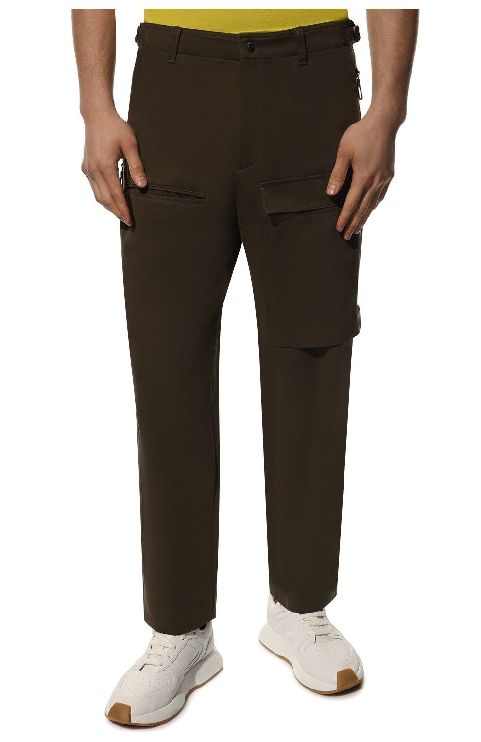 Мужские хлопковые брюки VALENTINO хаки цвета, арт. TV3REA755TU | Фото 3