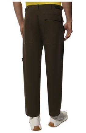 Мужские хлопковые брюки VALENTINO хаки цвета, арт. TV3REA755TU | Фото 4