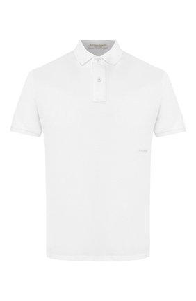 Мужское хлопковое поло BOTTEGA VENETA белого цвета, арт. 599677/VK090 | Фото 1