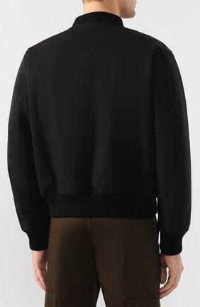Мужской хлопковый бомбер BOTTEGA VENETA черного цвета, арт. 599458/VA8Q0 | Фото 4