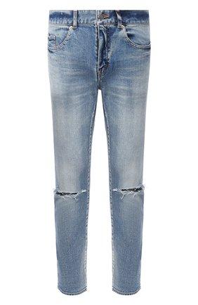 Мужские джинсы SAINT LAURENT голубого цвета, арт. 606663/Y0507 | Фото 1