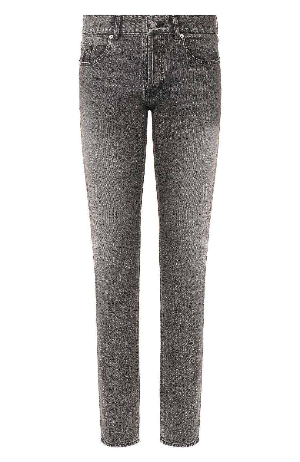 Мужские джинсы SAINT LAURENT темно-серого цвета, арт. 597052/Y8990   Фото 1