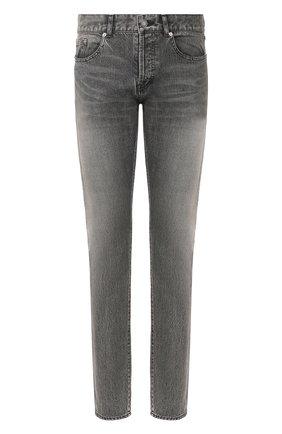 Мужские джинсы SAINT LAURENT темно-серого цвета, арт. 597052/Y8990 | Фото 1