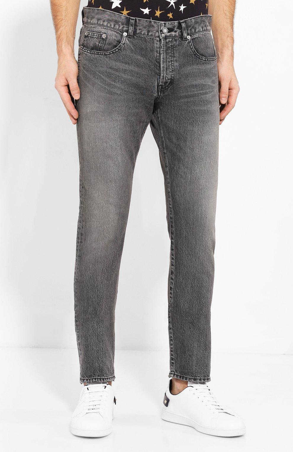Мужские джинсы SAINT LAURENT темно-серого цвета, арт. 597052/Y8990   Фото 3
