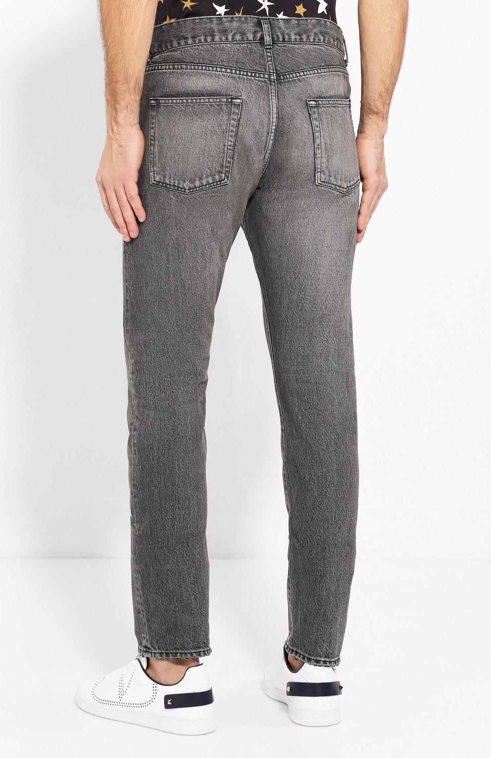 Мужские джинсы SAINT LAURENT темно-серого цвета, арт. 597052/Y8990   Фото 4