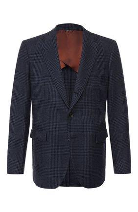 Мужской кашемировый пиджак LORO PIANA темно-синего цвета, арт. FAI8593 | Фото 1