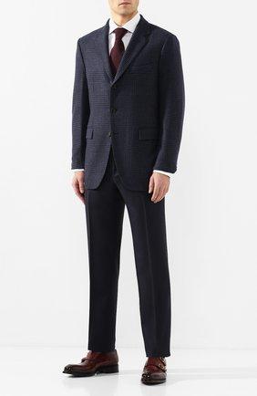 Мужской кашемировый пиджак LORO PIANA темно-синего цвета, арт. FAI8593 | Фото 2