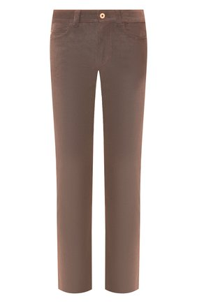 Мужской брюки из смеси хлопка и кашемира LORO PIANA светло-коричневого цвета, арт. FAI6011 | Фото 1