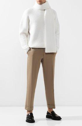 Мужские кожаные лоферы BOTTEGA VENETA черного цвета, арт. 608732/VCLQ0 | Фото 2