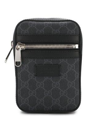 Мужская сумка gg supreme GUCCI темно-серого цвета, арт. 598103/K5RLN   Фото 1