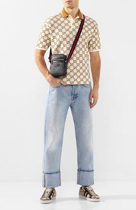 Мужская сумка gg supreme GUCCI темно-серого цвета, арт. 598103/K5RLN   Фото 2