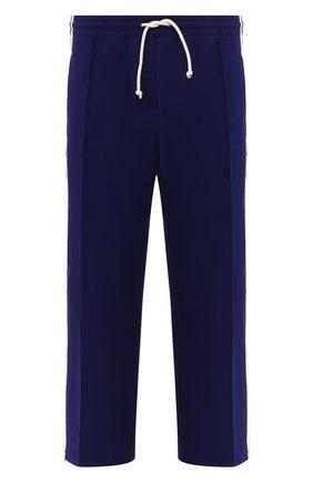 Мужские брюки GUCCI синего цвета, арт. 598853/XJBZ1 | Фото 1
