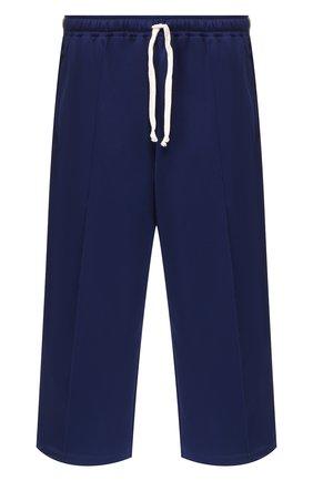 Мужские укороченные брюки GUCCI синего цвета, арт. 598716/XJBXT | Фото 1