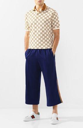 Мужские укороченные брюки GUCCI синего цвета, арт. 598716/XJBXT | Фото 2