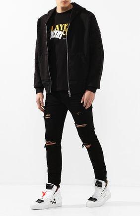 Мужские джинсы AMIRI черного цвета, арт. XM01203SD | Фото 2