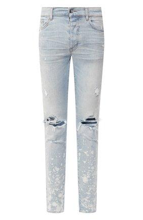 Мужские джинсы AMIRI голубого цвета, арт. S0M01105SD | Фото 1