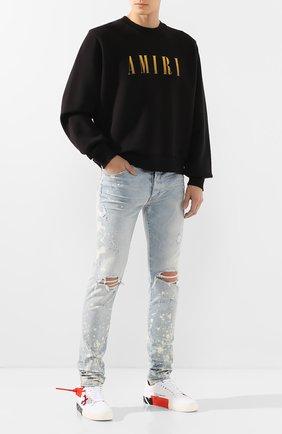 Мужские джинсы AMIRI голубого цвета, арт. S0M01105SD | Фото 2