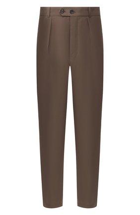 Мужской хлопковые брюки ALEXANDER MCQUEEN коричневого цвета, арт. 590015/Q0S44 | Фото 1