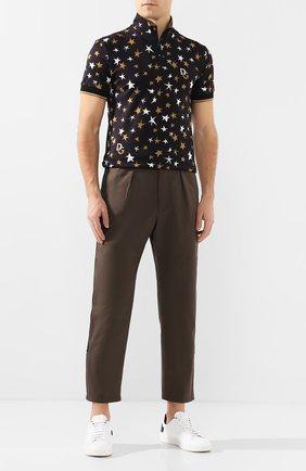 Мужской хлопковые брюки ALEXANDER MCQUEEN коричневого цвета, арт. 590015/Q0S44 | Фото 2