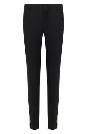 Мужской шерстяные брюки VALENTINO черного цвета, арт. TV3RBD455U8   Фото 1