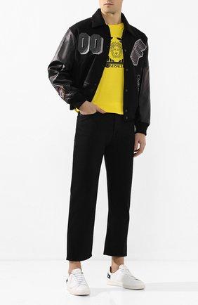 Мужские джинсы VALENTINO черного цвета, арт. TV3DE00T609 | Фото 2
