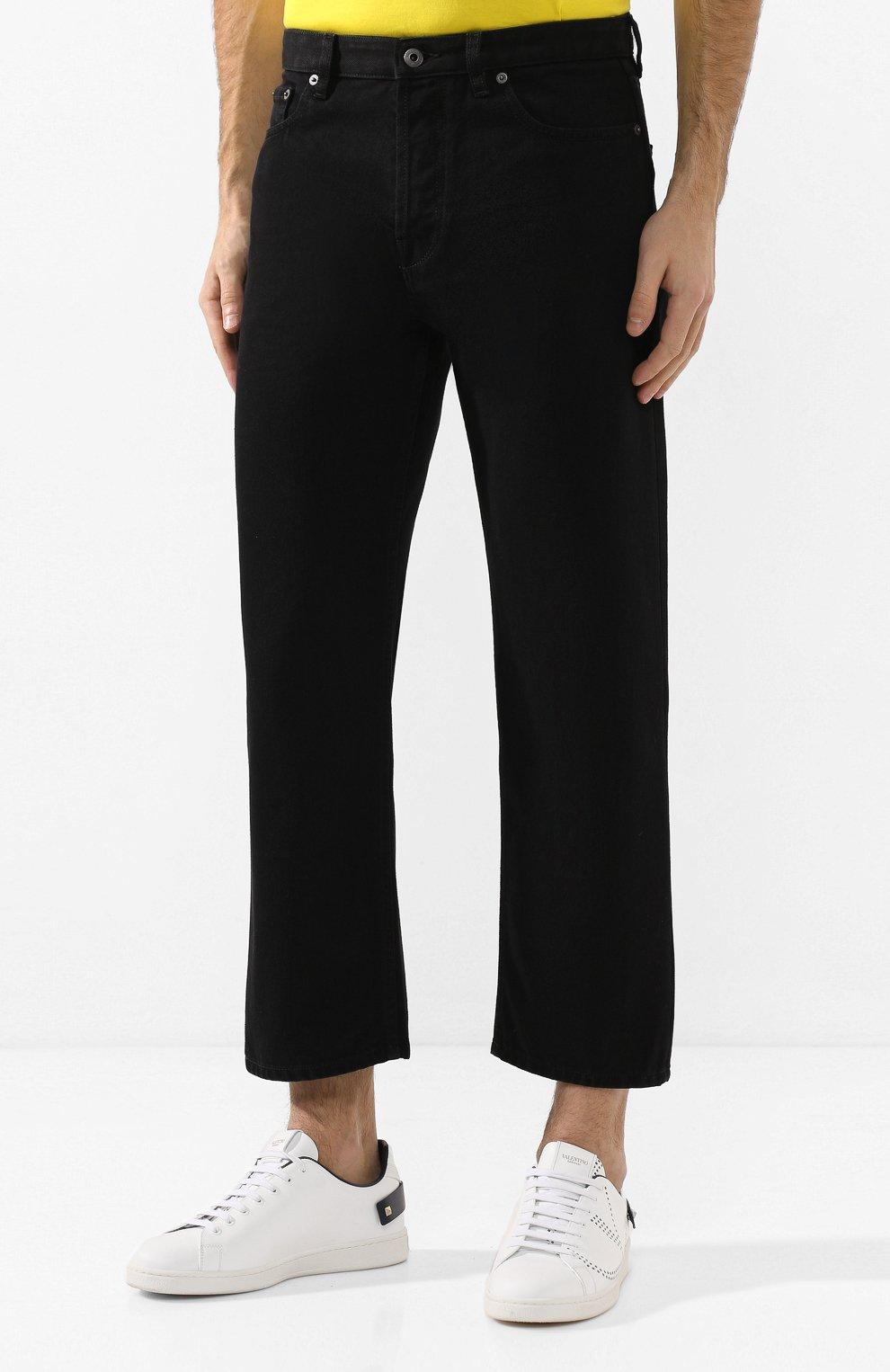 Мужские джинсы VALENTINO черного цвета, арт. TV3DE00T609 | Фото 3