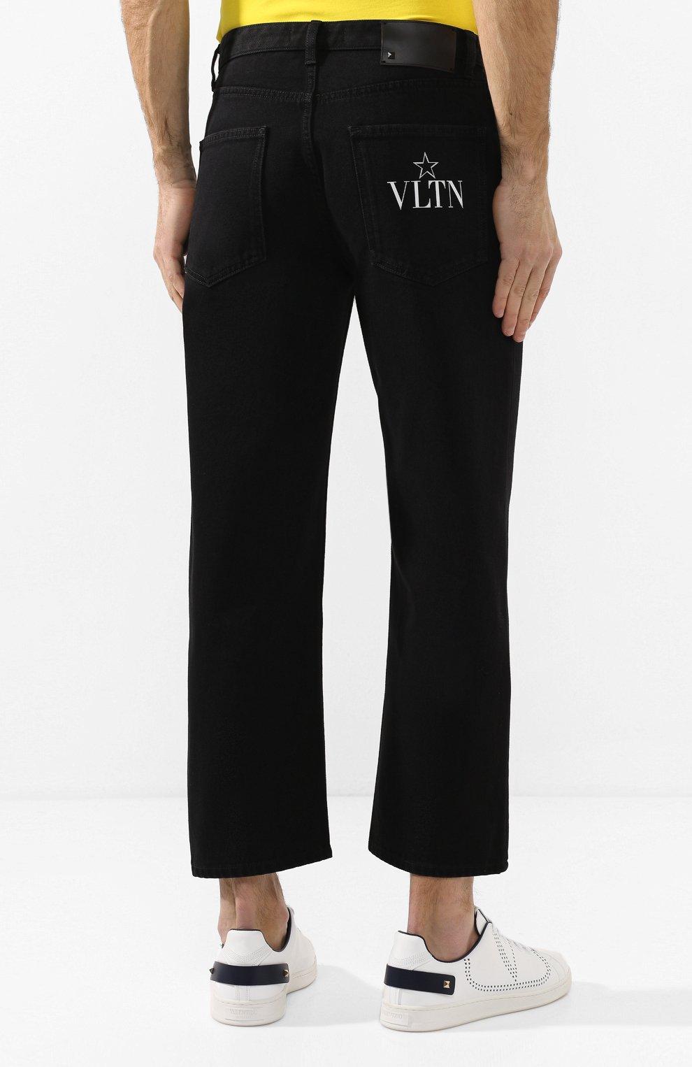 Мужские джинсы VALENTINO черного цвета, арт. TV3DE00T609 | Фото 4