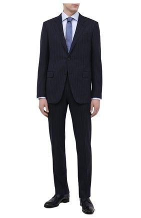 Мужской кожаные дерби BRIONI темно-синего цвета, арт. QEES0L/P6757 | Фото 2