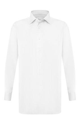 Мужская хлопковая сорочка BRIONI белого цвета, арт. RCL829/P804G | Фото 1