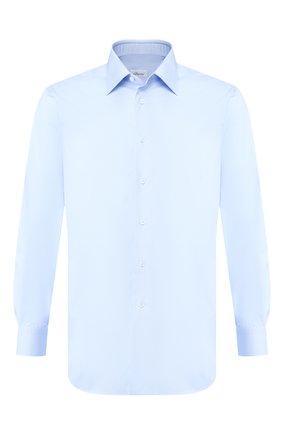 Мужская хлопковая сорочка BRIONI голубого цвета, арт. RCL8IC/PZ016 | Фото 1