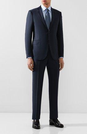 Мужская хлопковая сорочка BRIONI голубого цвета, арт. RCL8IC/PZ016 | Фото 2