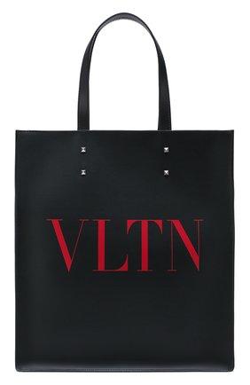 Мужская кожаная сумка-шопер valentino garavani vltn VALENTINO черного цвета, арт. TY2B0731/WJW | Фото 1