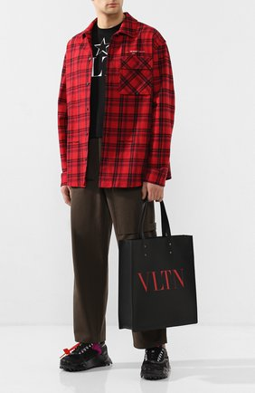 Мужская кожаная сумка-шопер valentino garavani vltn VALENTINO черного цвета, арт. TY2B0731/WJW | Фото 2