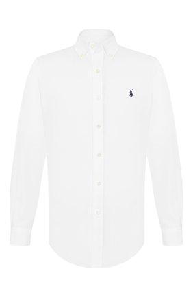 Мужская хлопковая рубашка POLO RALPH LAUREN белого цвета, арт. 710792044 | Фото 1