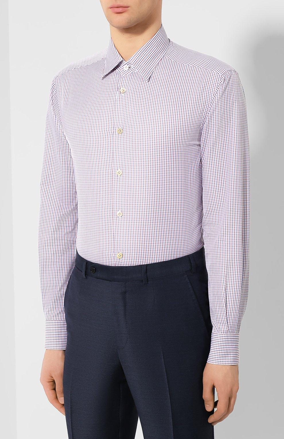 Мужская хлопковая сорочка KITON разноцветного цвета, арт. UCCH0709805 | Фото 3