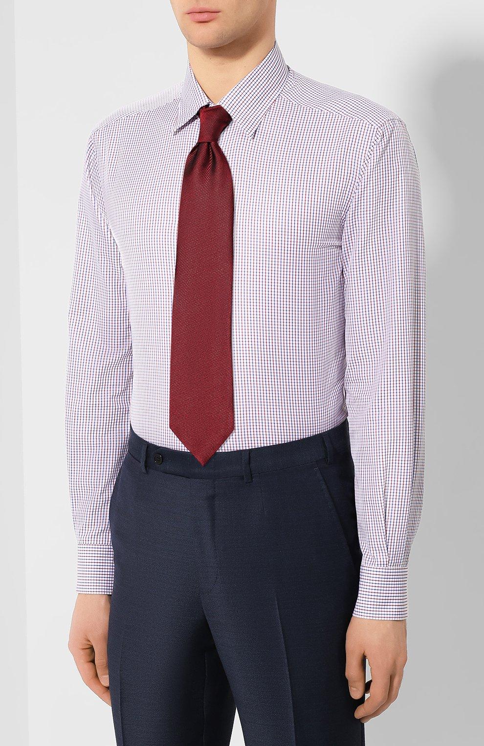 Мужская хлопковая сорочка KITON разноцветного цвета, арт. UCCH0709805 | Фото 4