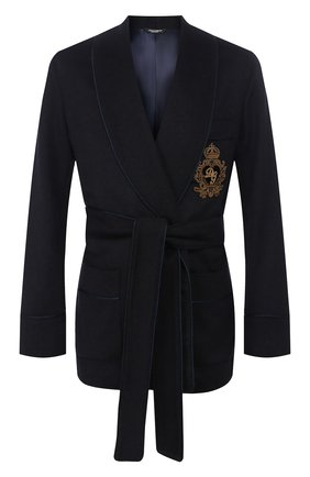 Мужской кашемировый пиджак DOLCE & GABBANA темно-синего цвета, арт. G001JZ/FU2AX | Фото 1