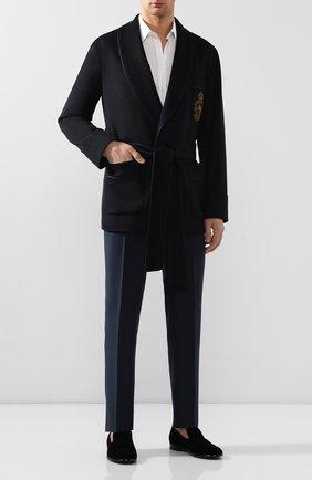 Мужской кашемировый пиджак DOLCE & GABBANA темно-синего цвета, арт. G001JZ/FU2AX | Фото 2