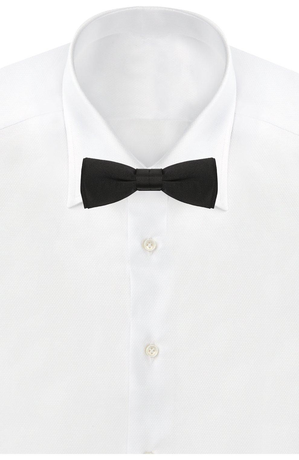 Мужской шелковый галстук-бабочка BOSS черного цвета, арт. 50423862 | Фото 2