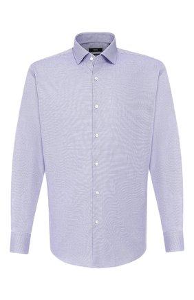 Мужская хлопковая сорочка BOSS сиреневого цвета, арт. 50421523 | Фото 1