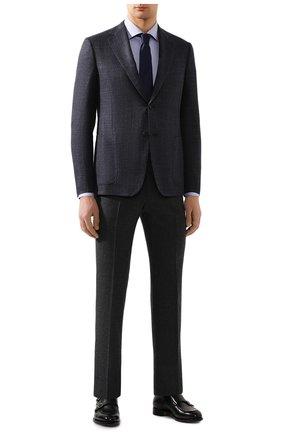 Мужская хлопковая сорочка BOSS сиреневого цвета, арт. 50421523 | Фото 2