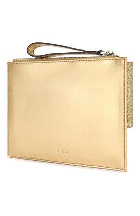 Детская кожаная сумка GUCCI золотого цвета, арт. 457233/K2Y4N | Фото 2