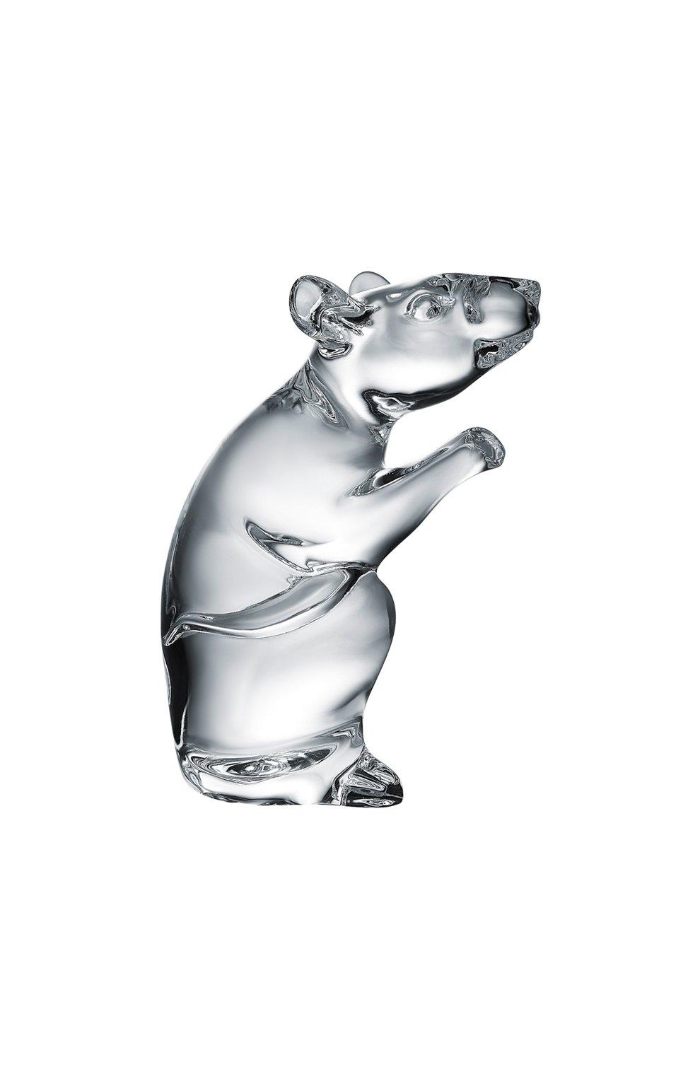 Мужского статуэтка мышь BACCARAT прозрачного цвета, арт. 2 813 060   Фото 1