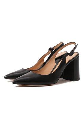 Женская кожаные туфли GIANVITO ROSSI черного цвета, арт. G95105.85RIC.VITNER0 | Фото 1