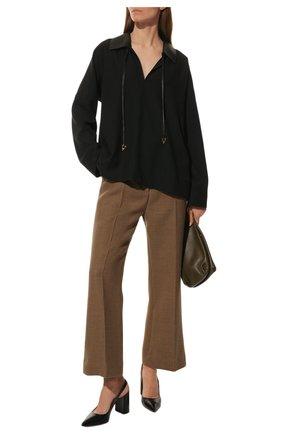 Женская кожаные туфли GIANVITO ROSSI черного цвета, арт. G95105.85RIC.VITNER0 | Фото 2